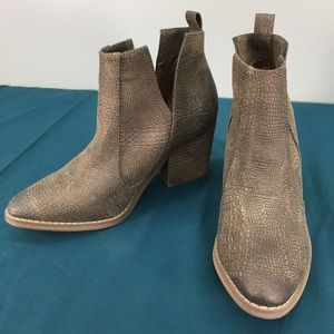 Not Rated Vegan Leather Reptile Print Ankle Boots